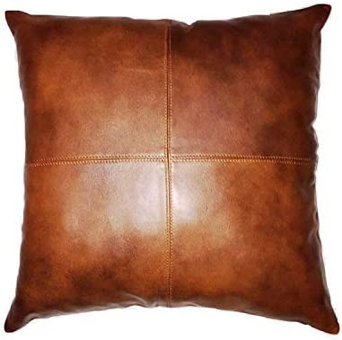 LL LEATHER LOVERS Selling and selling 100% Lambskin Leather Pillow Cush Super Special SALE held Sofa Cover -