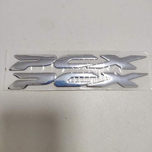 Jinghai Emblema de la Insignia de la Motocicleta 3D de la Etiqueta del Tanque Rueda de la Etiqueta engomada para Honda PCX PCX125 PCX150 PCX 125 150, Plata