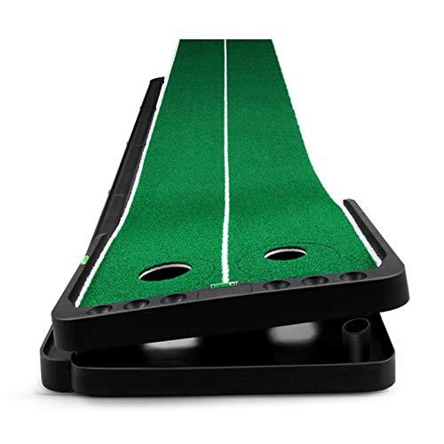 DYB Alfombra de práctica Mat de Golpe de Golf - 3M Golf Putting Mat Golf Putter Trainer Interior Ajustable Putter Alfombra Práctica Set Mini Golf Putting Green Fairway Experiencia