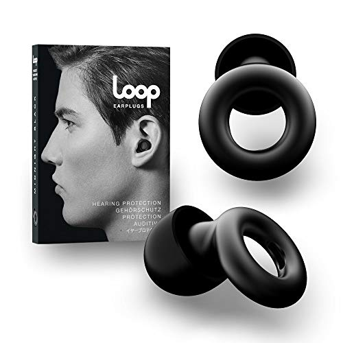 Loop Tapón Para Los Oídos Con Reducción De Ruido - Quita Sonido 20 DB - Accesorios Protección Auditiva, Natación, Concentración, Motos - Auriculares De Silicona Y Espuma - Negro Medianoche