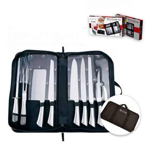Royalty Line Lot de 10 couteaux en acier inoxydable avec étui de transport RL-K10HL