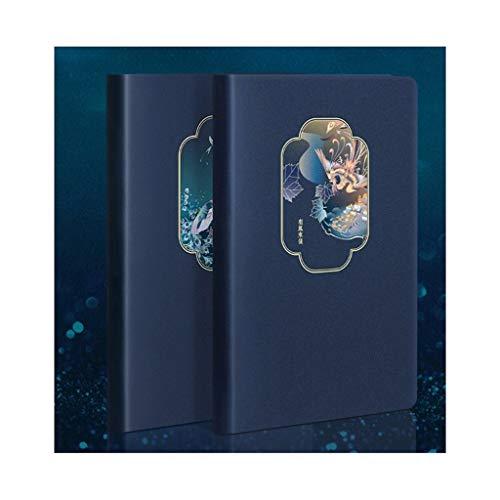 Cuadernos Retro fresca pequeña portátil, Papel Premium grueso forrado Diario, Tapa dura de la piel diario, for Ministerio del Interior Escuela de Escritura Toma de Notas blocs de notas ( Color : A+B )
