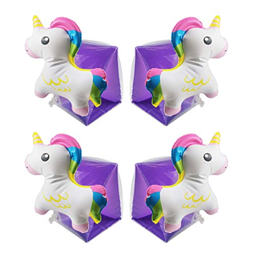 Wenlia Floating Inflatable Armbands for Kids, Unicorn Swimming Arm bands...