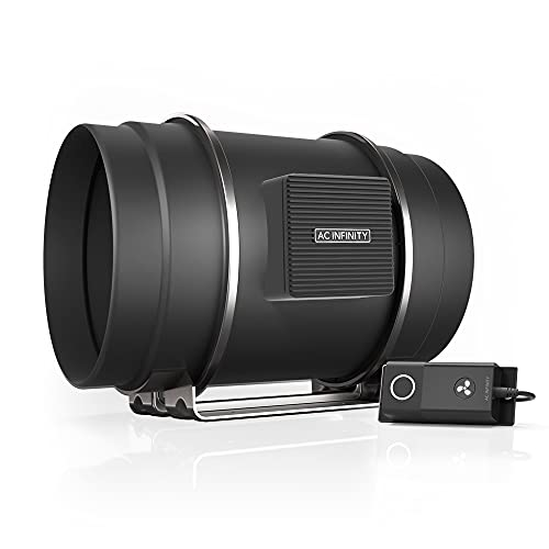 """AC Infinity CLOUDLINE S8, Quiet 8"""" Inline Duct Fan with Speed Controller - Ventilation Exhaust Fan for Heating Cooling Booster, Grow Tents, Hydroponics"""