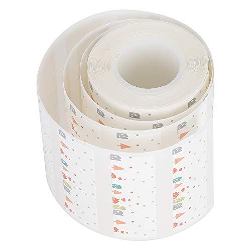 Wasserdichte Druckaufkleber ölbeständiges Thermopapieretikett, Klebeetikettenaufkleber Wärmeempfindliches Etikettenpapier für Büro-EQ11-Drucker