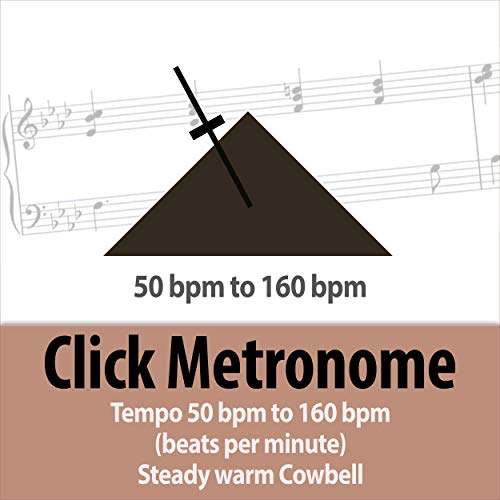 100 bpm (beats per minute) Click Metronome - Steady Tempo Warm Cowbell