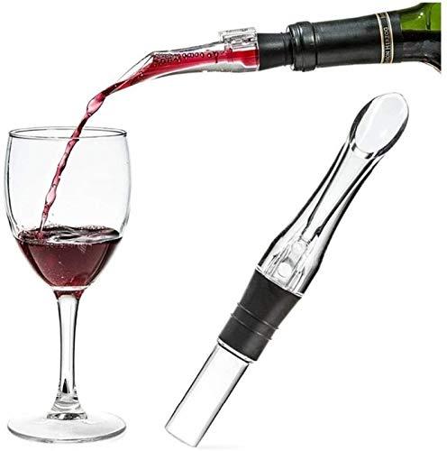 Decantador de vino de cristal hecho a mano, Mágico Acrílico Vino Decantador Vino Rojo Aeración Vulidor Sput Decanter Aeroador Vino Quick Airating Tool Herramienta Bomba Portátil (Color: Negro) Accesor