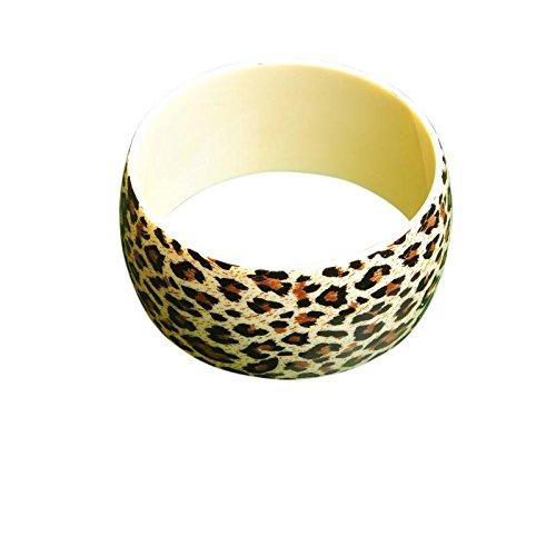 Freak Scene® Armreif ° Armschmuck ° Leopard & Zebra Muster ° Modell: Leopardenmuster - 3,5 cm