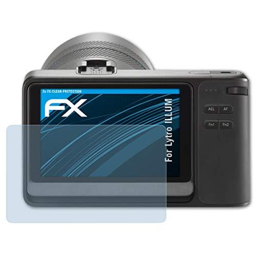 atFoliX Schutzfolie kompatibel mit Lytro Illum Folie, ultraklare FX Displayschutzfolie (3X)
