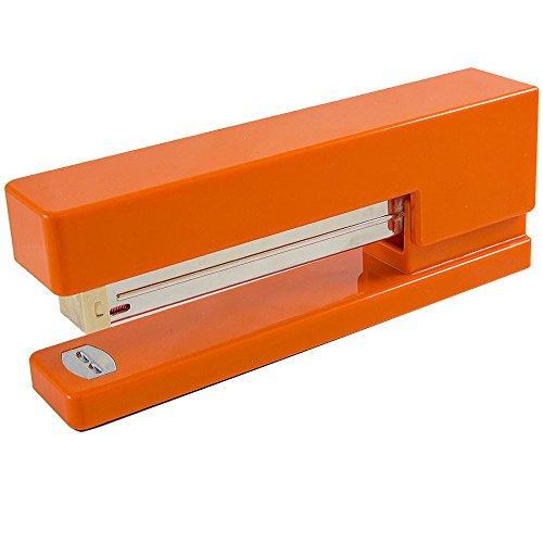 JAM PAPER Modern Desk Stapler - Orange - Sold Individually