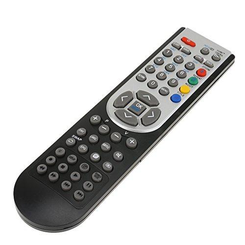 Fiorky RC1900 - Mando a Distancia para Oki 32 TV Hitachi TV Alba Luxor Basic Vestel TV CELCUS Luxor GRUNDIG Sharp JMB TELEFUNKEN Bush TECHWOOD Akai NEVIR SANYO LCD LED Plasma Smart TV Negro