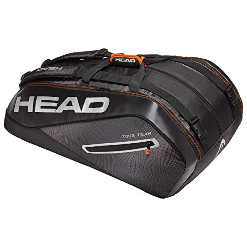 Head Tour Team 12R Monstercombi, Borsa per Racchetta Unisex Adulto, Black/Silver