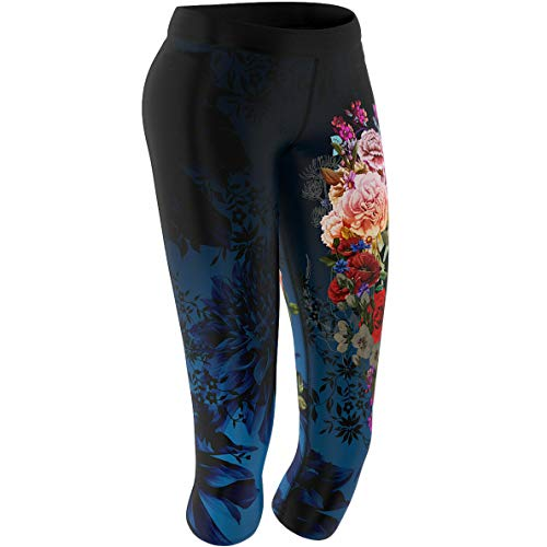 SMMASH Muerte Damen Leggings 3/4 für Crossfit, Gym Hose, Outdoor, Sporthose für Yoga, Laufhose, Atmungsaktiv Trainingshose, Fitnesshose Blickdichte, Jogginghose, Hergestellt in der EU (S)
