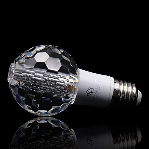 No5 Crystal Led Light Bulbs,Ceiling Lamp, 5W, E26/E27 Base, 3000 K Soft White, 450 Lumens, Non-Dimmable Lighting Bulb