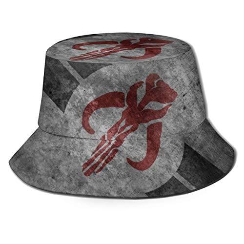 Ahdyr Sombreros de Cubo Transpirables con Parte Superior Plana Unisex The Man-dalorian TV Series Patrón Sombrero de Cubo Sombrero de Pescador de Moda de Verano