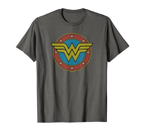 Wonder Woman Vintage Emblem Camiseta