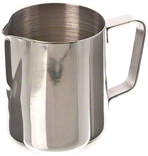 Joyfeel buy Pichet à lait en acier inoxydable, 200 ml, pot à lait en forme de fleur en acier inoxydable pour lait, latte, cappuccino, moka