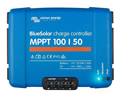 Victron Energy Bluesolar MPPT 100/50, 12 - 24 V, 50 A, Solarladeregler VE Direct, 1 Stück, SCC020050200