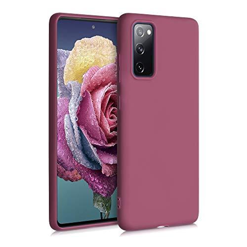 kwmobile Custodia Compatibile con Samsung Galaxy S20 Fe - Cover in Silicone TPU - Back Case per Smartphone - Protezione Gommata Cipria Scuro