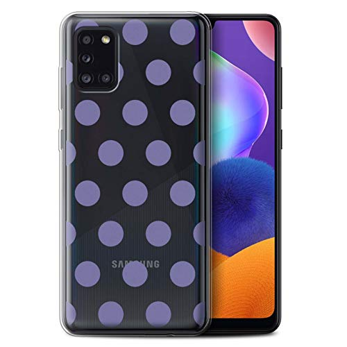 eSwish Gel TPU Phone Case/Cover for Samsung Galaxy A31 2020 / Lavender Purple Design/Dotty Polka Dots Collection