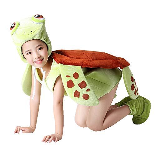 JJAIR Kinder Schildkröte Kostüm, Spaß Tier Props Kostüm Bühnenrequisiten anzeigen Onesies Hilarious Kostüm für Ankleidespiele,140