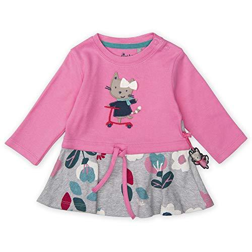 Sigikid Baby - Mädchen Langarm-Kleid Kleid,, per pack Rosa (pink 686), 98 (Herstellergröße: 98)