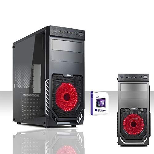 PC DESKTOP LED RED INTEL QUAD CORE LICENZA WINDOWS 10 PRO 64 BIT/WIFI/HD 1TB/RAM 8GB 1600MHZ/DVD-RW/VENTOLA LED 12M RED/PC FISSO COMPLETO PRONTO ALL'USO,PER UFFICIO, CASA,GIOCHI COMPLETO