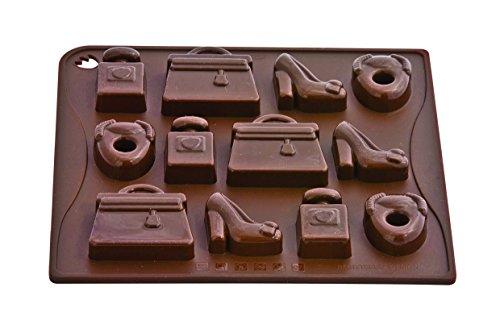 Silicona Chocolate Víctima Molde Moda Choco-Ice, 18 x 17 cm - Resistente al Calor hasta 230 ° C