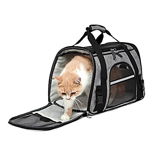 DZL- Transportín Bolsa para Perro/Gato 41 * 26 * 23CM Bandoleras Portaperros Pequeño Transporte Portador Perros Gatos Viaje Avion Tren (Azar)