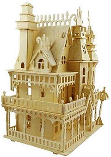 venta caliente Rompecabezas Slebs Crafts 3D Stereowood Puzzle Modelo Modelo Modelo DIY Edificio De Montaje Villa  te hará satisfecho