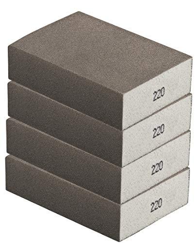 Schleifschwamm 4er Set FEIN, robuste Körnung 220 I DIY, Handschleifer, für viele Materialien geeignet I hochwertiger Handschleifklotz, Schleifklotz, Schleifblock