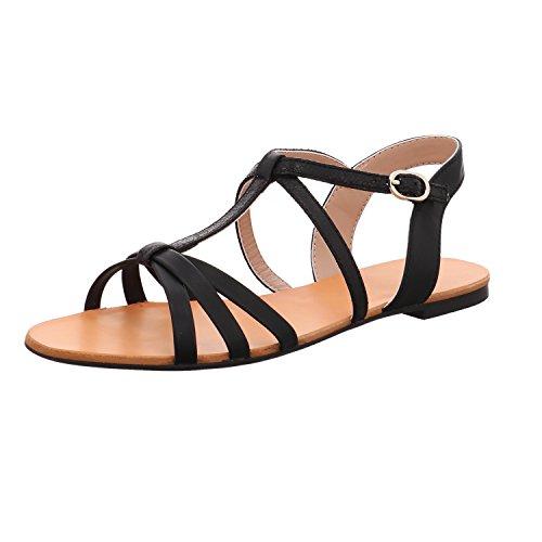 ESPRIT Damen Sandaletten Adya T Strap 048EK1W067 001 schwarz 460034