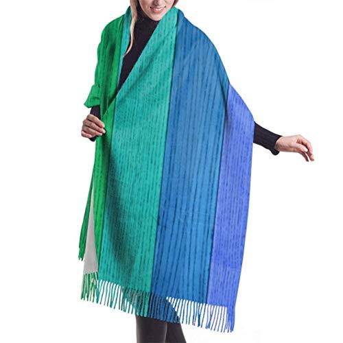 shenguang Womens Winter Schal Kaschmir Gefühl Skizze Pinguin Hut Tasse Tee Keks Schals Stylish Schal Wraps Weiche warme Decke Schals für Frauen