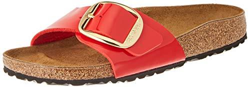 Birkenstock Damen MADRID BIG BUCKLE Sandale, kirschrot, 37 EU