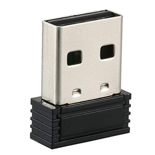 ANT+ USB-Stick-Adapter, Fahrrad-Trainer, kabelloser Empfänger-Adapter, Fahrradständer, Mini-Größe, USB-Stick-Adapter für Fahrradspiele, schwarz