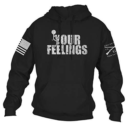 Grunt Style Your Feelings Hoodie - Large Black