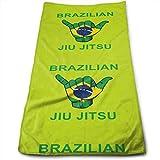 Hipiyoled Brazil BJJ Shaka - Toalla de baño para Gimnasio, Fitness, Golf, Yoga, Camping,...