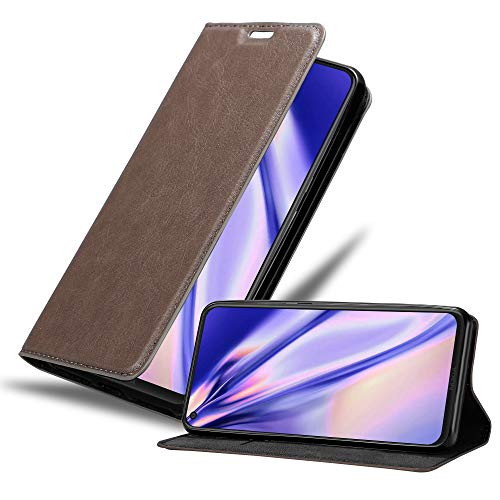 Cadorabo Hülle für Nokia 8.1 2019 in Kaffee BRAUN - Handyhülle mit Magnetverschluss, Standfunktion & Kartenfach - Hülle Cover Schutzhülle Etui Tasche Book Klapp Style