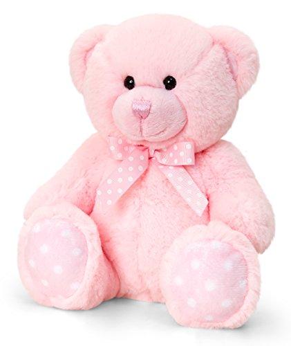 Lashuma Keel Baby Plüschtier Bär Rosa, Kuscheltier Teddy sitzend 25 cm
