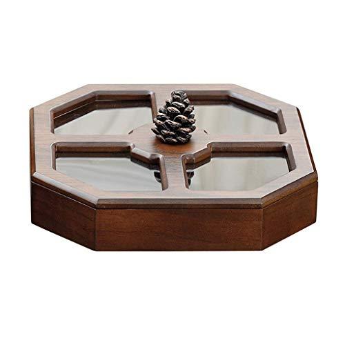 Serve partito Vassoio ciotole stand display Snack Piatti Vassoi, Nut Bowl Dado piatto da portata scomparto con coperchio...