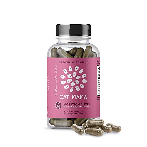Oat Mama You Got This Lactation Supplements, Organic Herbal Blend Breastfeeding Support, Goat's Rue, Shatavari, Moringa to Help Increase Milk Supply, Women-Owned, 60 Capsules