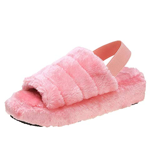 N/A Stiefel für Herren, große Hausschuhe, dickbesohlte Freizeitpantoffeln, Pink_39