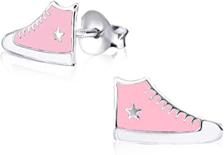 Argent 925 Sterling Charm chaussure Sneaker rose en argent pour charms colliers et bracelets SilberDream exclusive Charms FC651