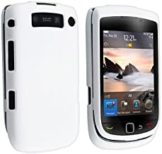 Solid White Snap-On Rubber Feel Cover Hard Case Cell Phone Protector for RIM BlackBerry Torch 9800 / Torch 9810 / 9810 4G / Torch 2