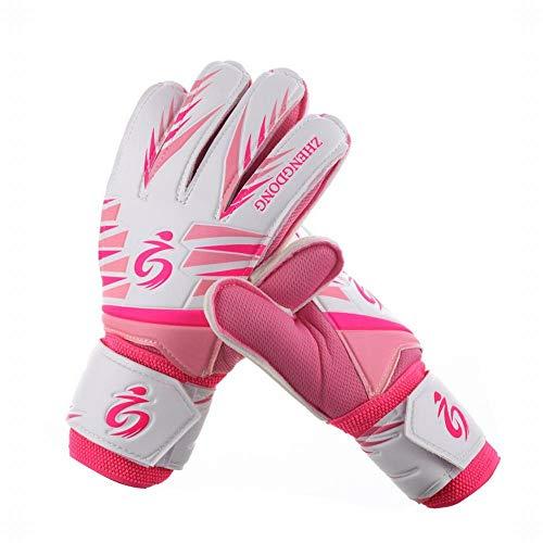 ERSD Fußball Torwarthandschuhe Torwarttraining Handschuhe Jugend Erwachsene Trainingshandschuhe Anti-Rutsch-Schutz zur Vermeidung von Verletzungen (Farbe : Rosa, Size : 8)