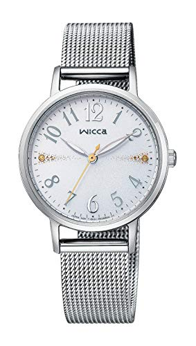 [シチズン] 腕時計 ウィッカ ソーラーテック メッシュベルト KP5-115-11 レディース シルバー