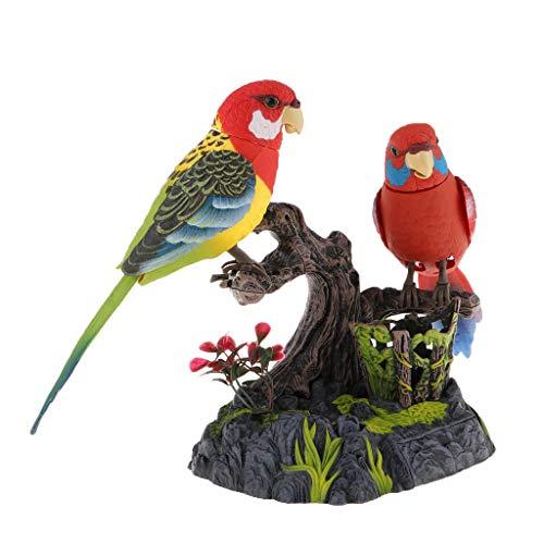 IPOTCH Gezwitscher Vogel Sparrow Bewegungsmelder Echt Singen Sounds Bewegung batteriebetrieben