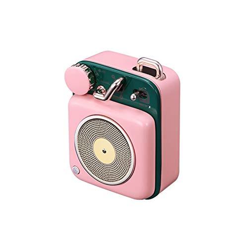 YaGFeng Radio MW-P1 Rosa Atomic Plattenspieler B612 Retro Bluetooth Lautsprecher Audio Outdoor Wireless Subwoofer Kleine Stahlkanone Auto Handy Mini Kreatives Geschenk
