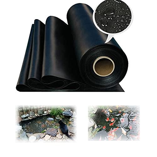 ZYFA HDPE Teichfolie Gartenteichfolie Schwarze Gartenpoolmembran Teich Folie,Schwimmteich, UV und witterungsbeständig Folie,Stärken 0.2 mm