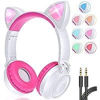 GBD Wireless Cat Ear Kids Headphones with Mic
